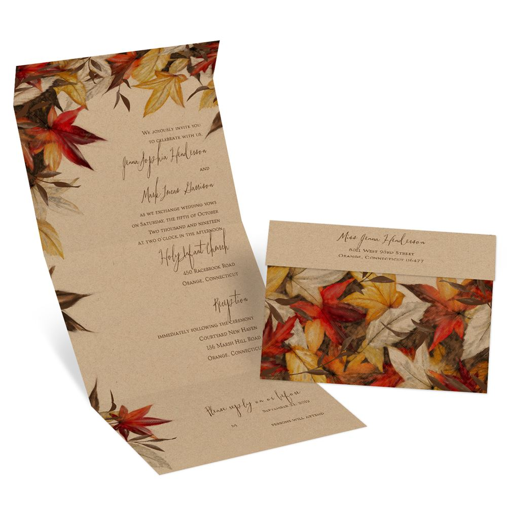 When Do I Send Out Wedding Invites: Autumn Maple Seal And Send Invitation