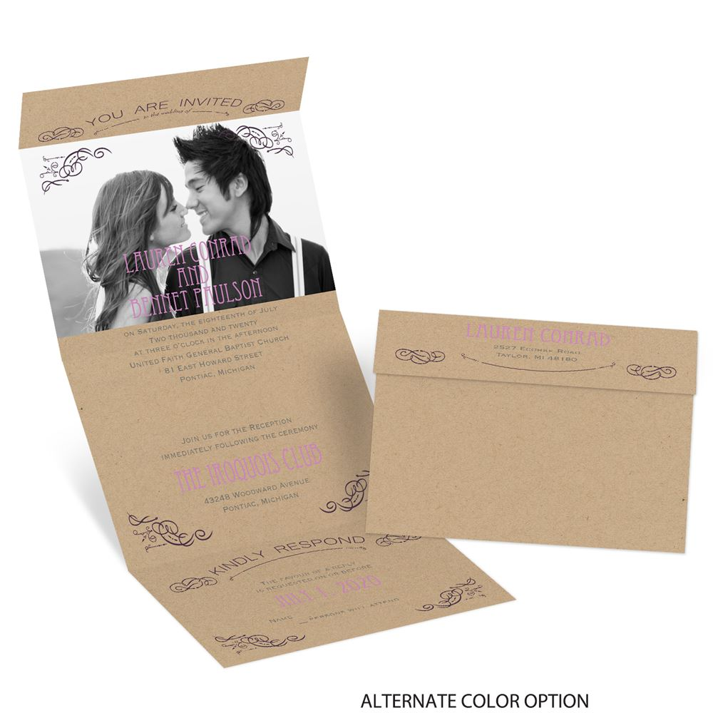 Cheap Send And Seal Wedding Invitations: So Inviting Seal And Send Invitation