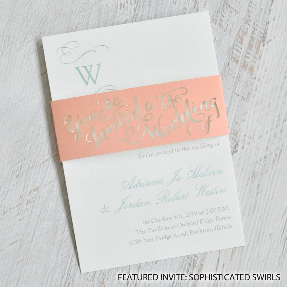 Truly Inviting Laser Cut Belly Band | Invitations By Dawn