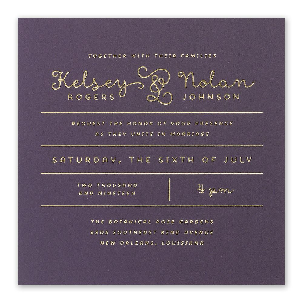 Modern Wedding Invitation | Invitations By Dawn