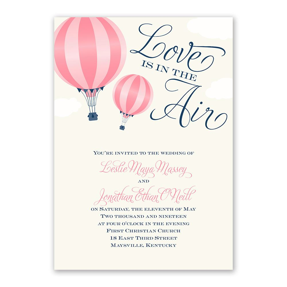 Love Is In The Air Invitation Invitations By Dawn