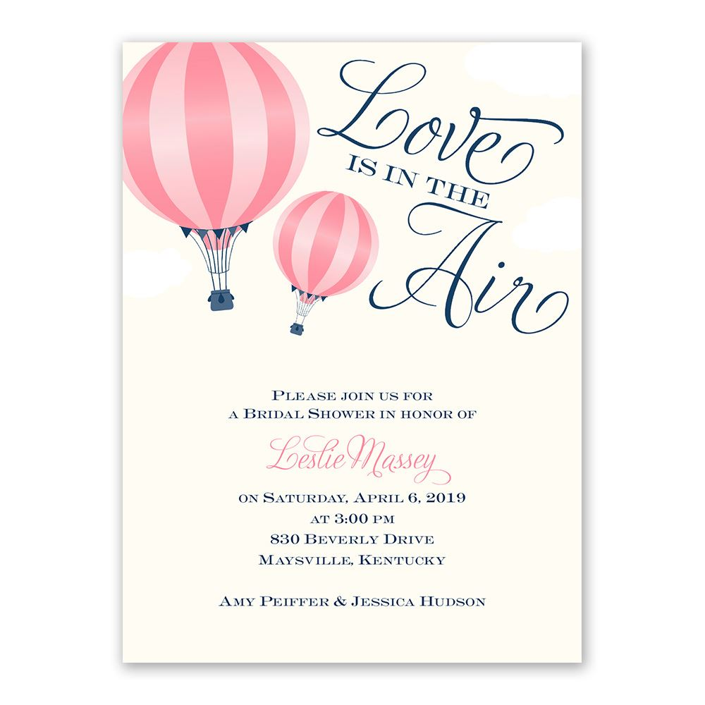 Love Is In The Air Petite Bridal Shower Invitation Invitations By Dawn
