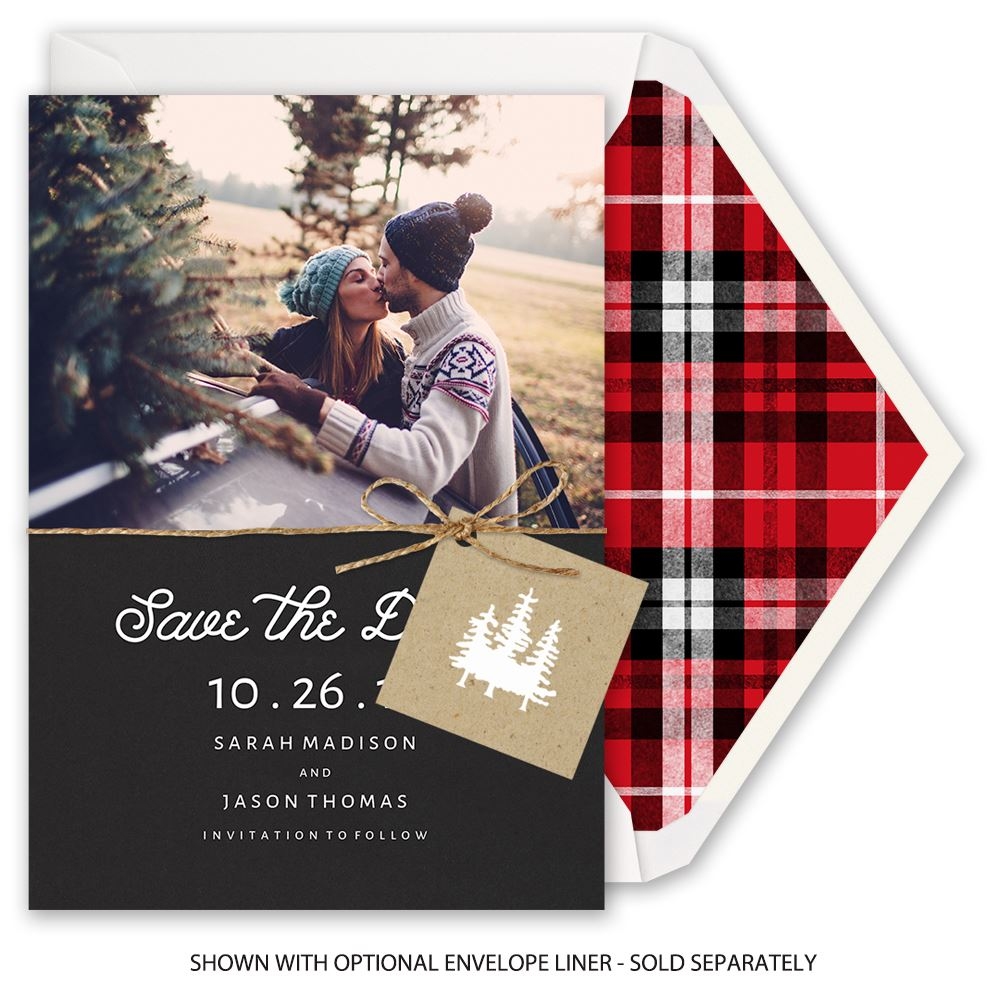 elegant outdoors holiday card save the date invitations by dawn