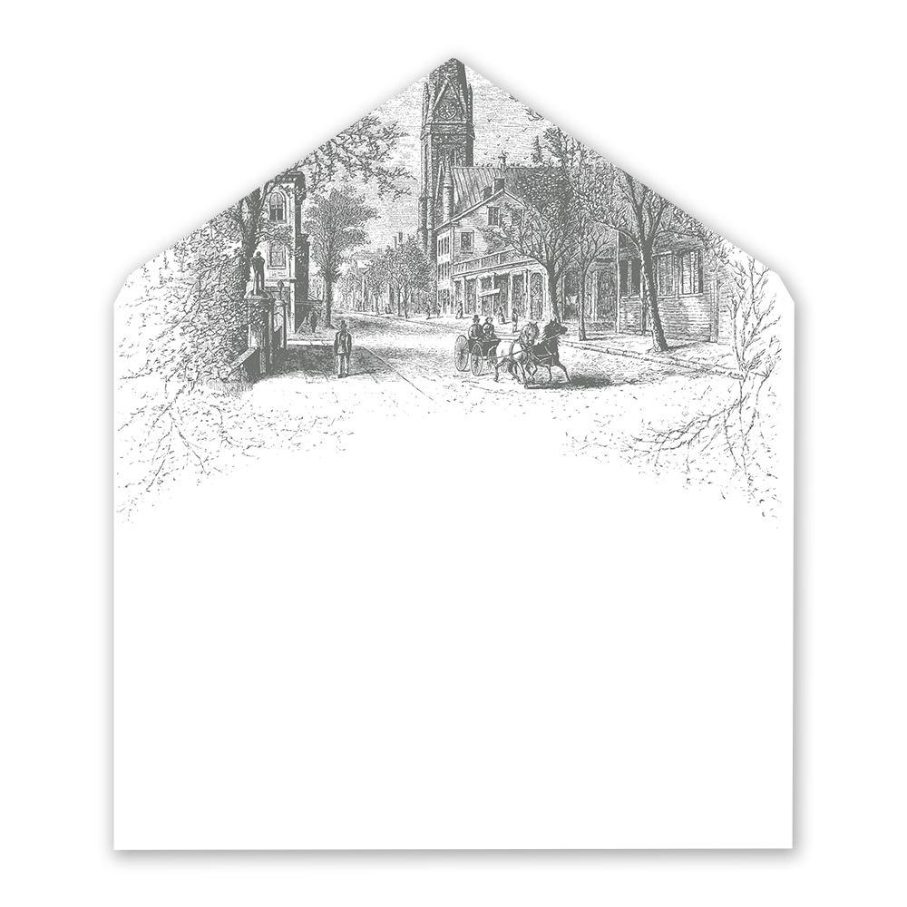 country christmas designer envelope liner