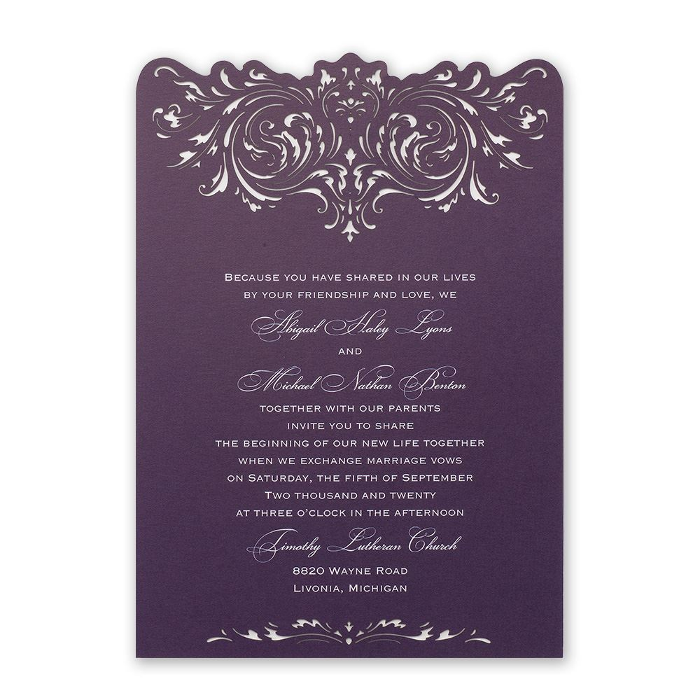 Intricate Beauty Laser Cut Invitation Invitations By Dawn