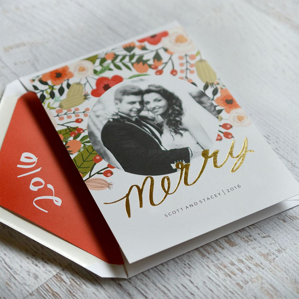 Brilliant Holiday Foil Holiday Card