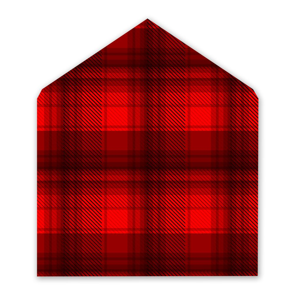 Lumberjack Red Designer Envelope Liner   Invitations By Dawn