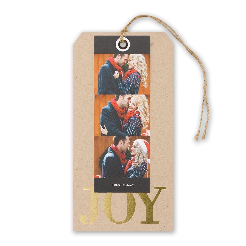 joy foil holiday card invitations by dawn