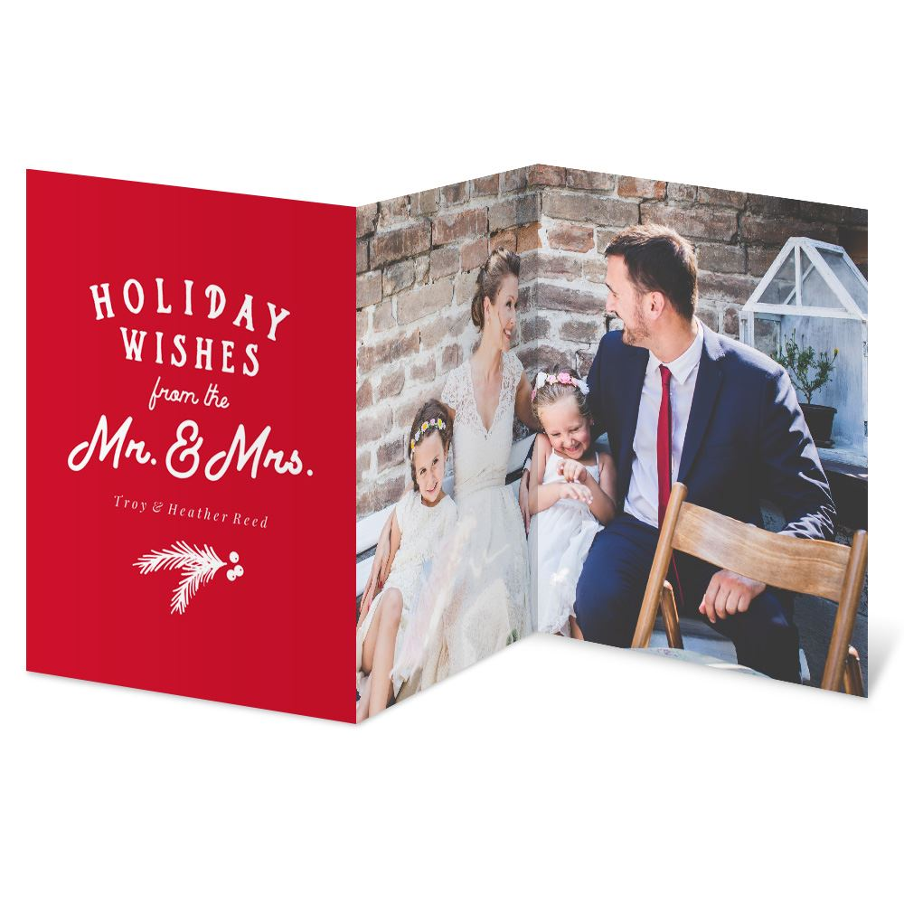 Newlywed Wishes Holiday Card   Invitations By Dawn