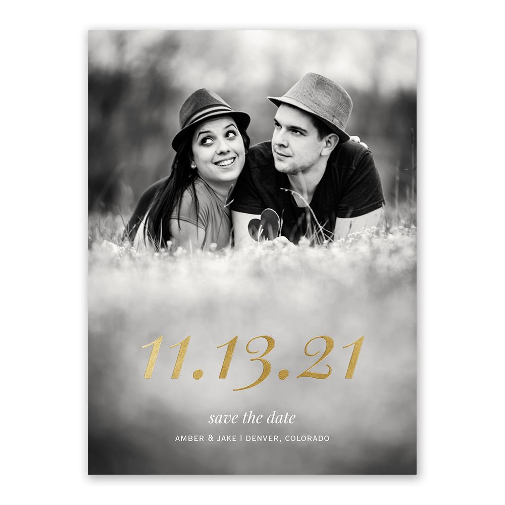 Special Date Foil Save the Date Card   Invitations By Dawn