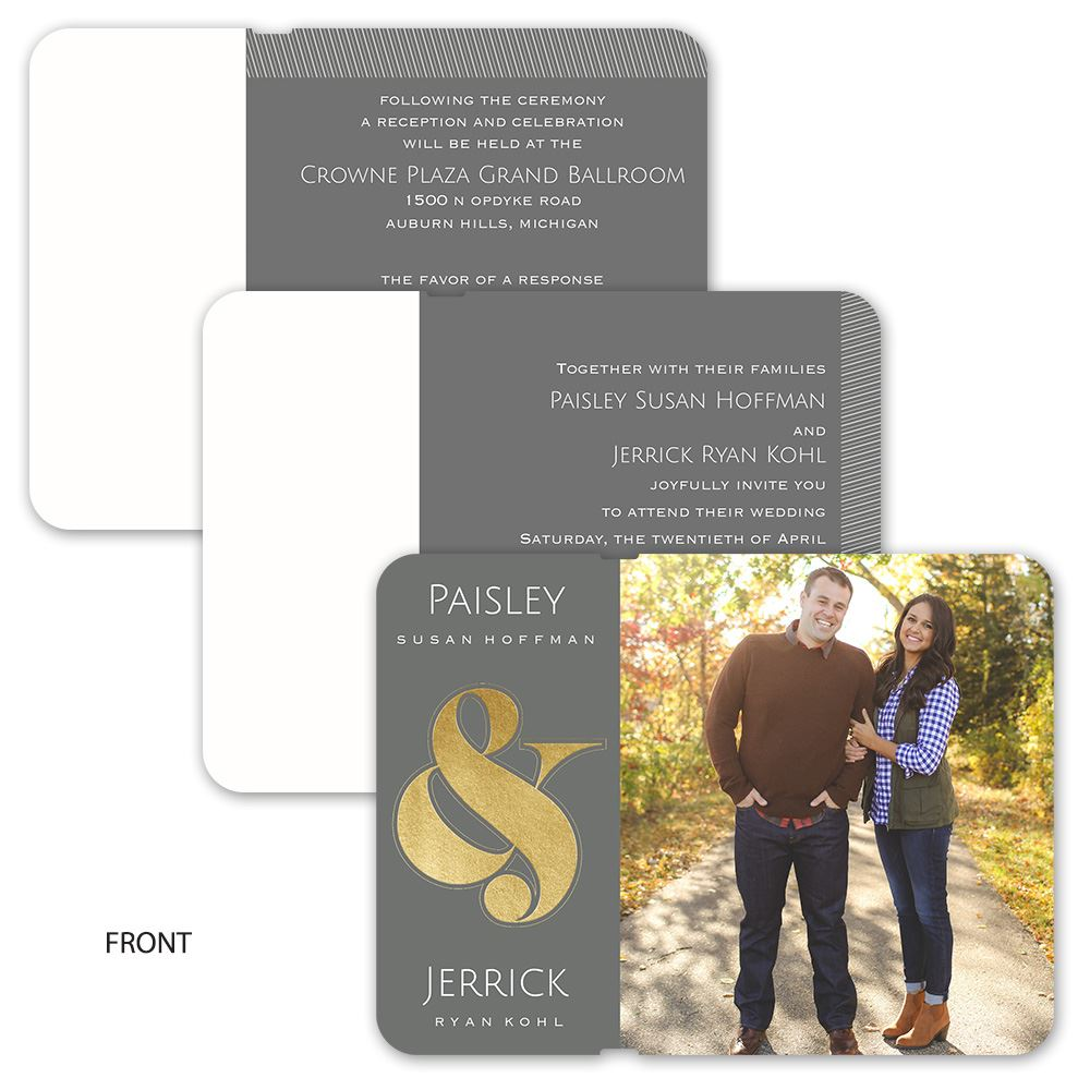 Always Together Invitation Foil Flip Book Invitations By Dawn