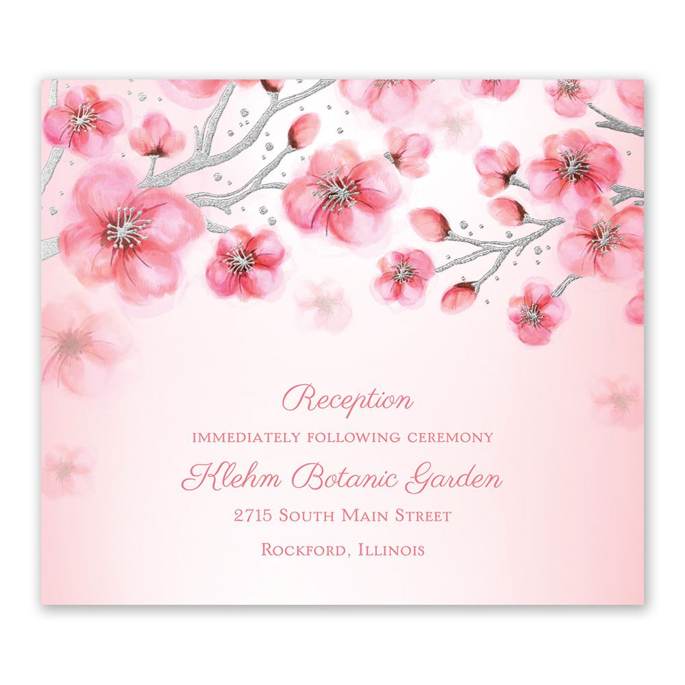 Cherry Blossoms Foil Information Card