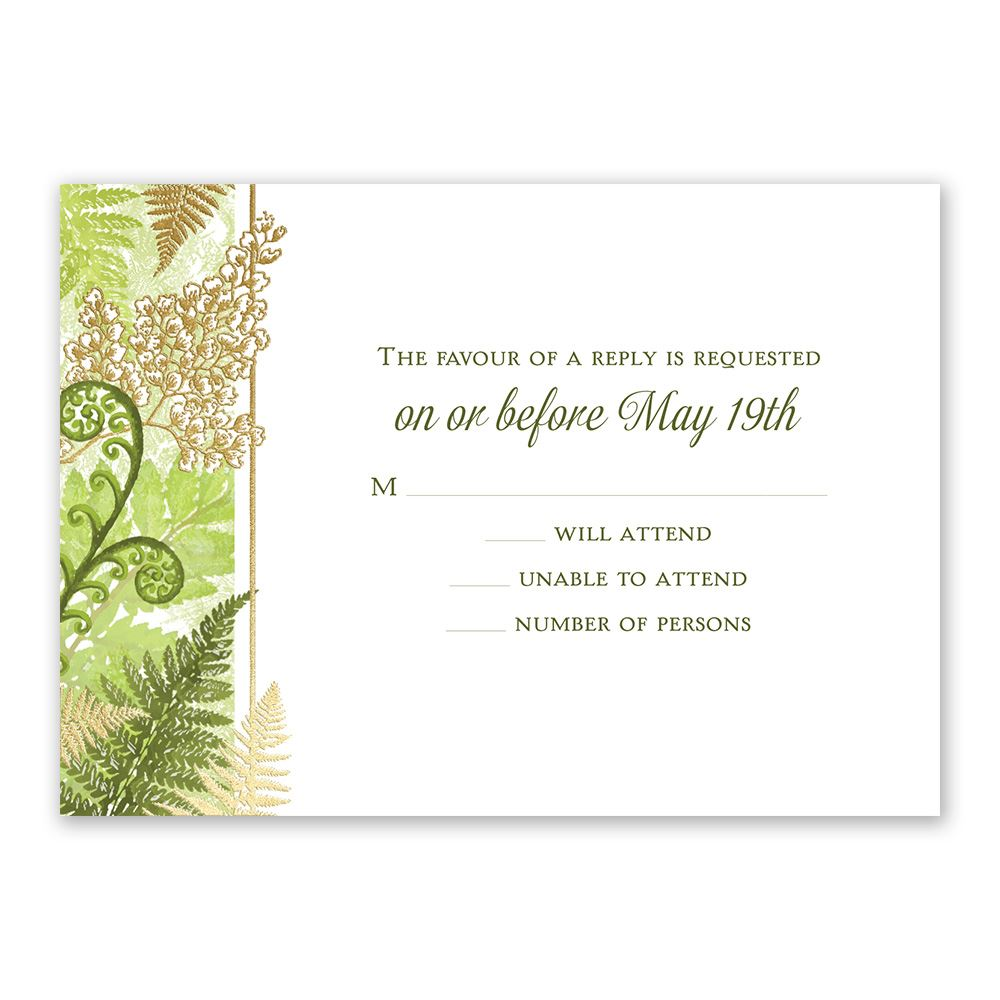 Botanical Beauty Foil Response Card | Invitations By Dawn