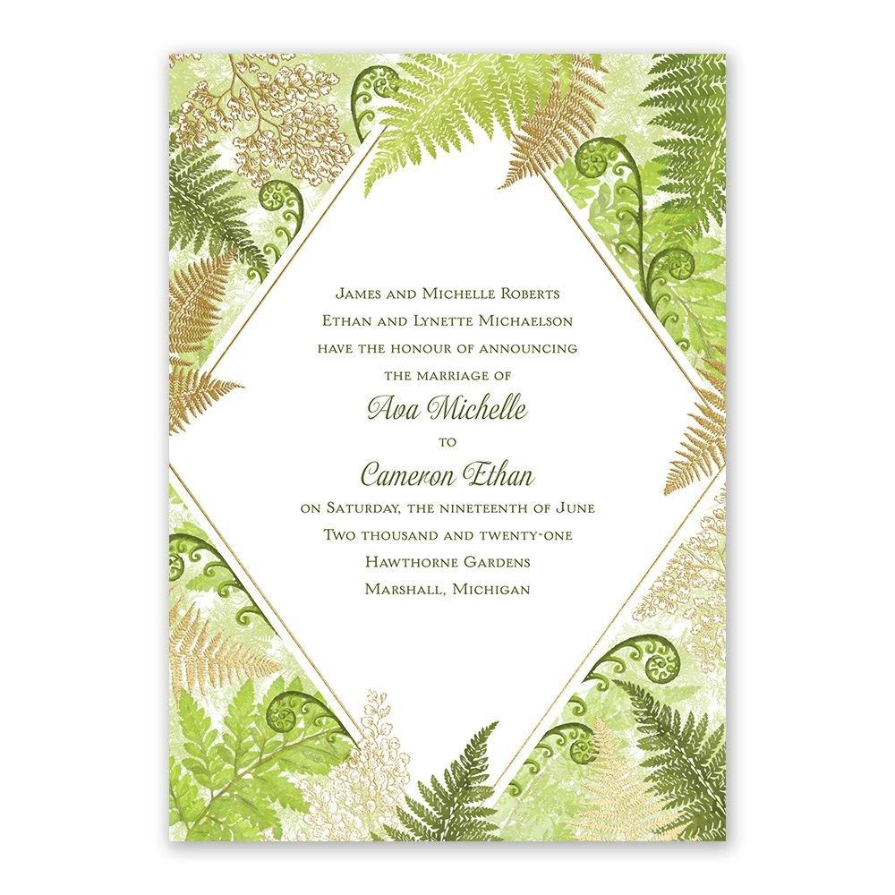 Botanical Beauty Foil Invitation | Invitations By Dawn