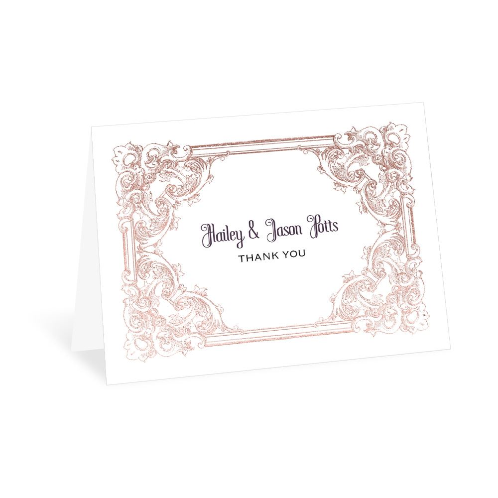 da9d9454909c9 Yorkshire Romance Foil Thank You Card | Invitations By Dawn