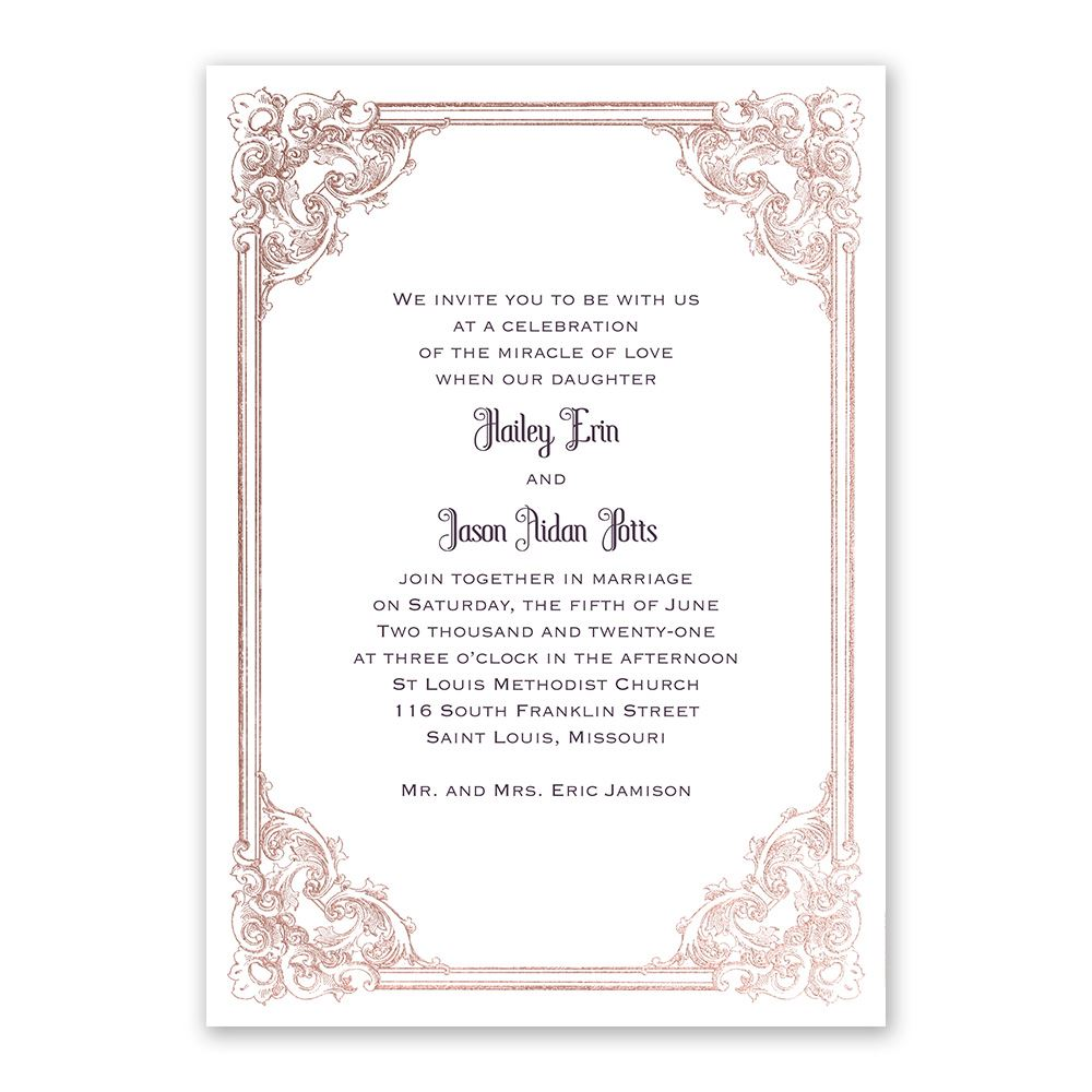 Yorkshire Romance Foil Invitation Invitations By Dawn