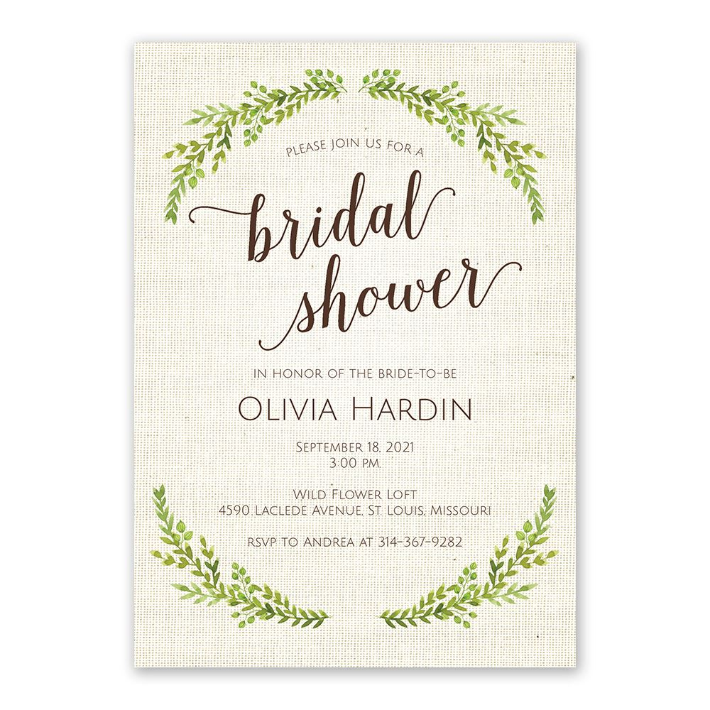 Botanical bride bridal shower invitation invitations by dawn - Wedding bridal shower ...