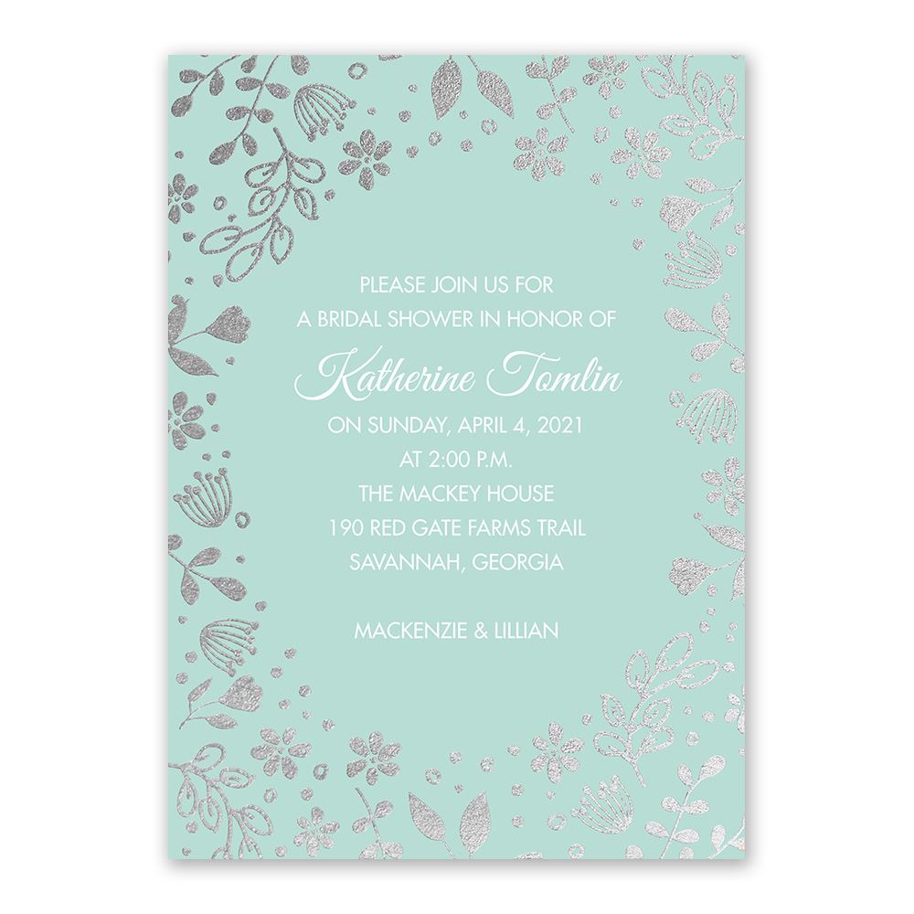 bridal shower invitations boho babe foil bridal shower invitation