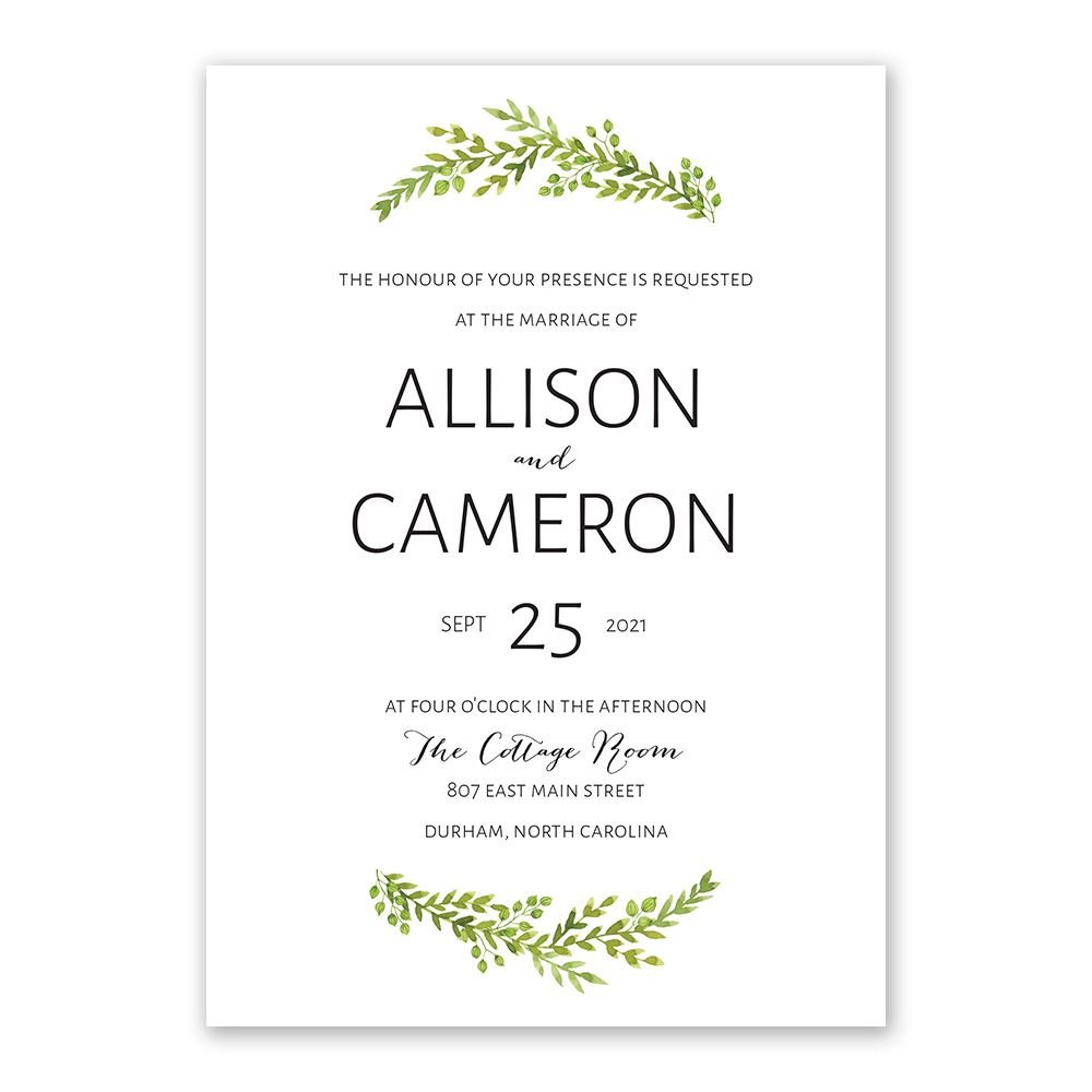 Watercolor Greenery Invitation Invitations By Dawn