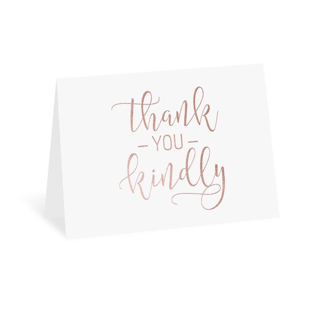 396fb4760d7c2 Thank You Kindly Foil Thank You Card | Invitations By Dawn