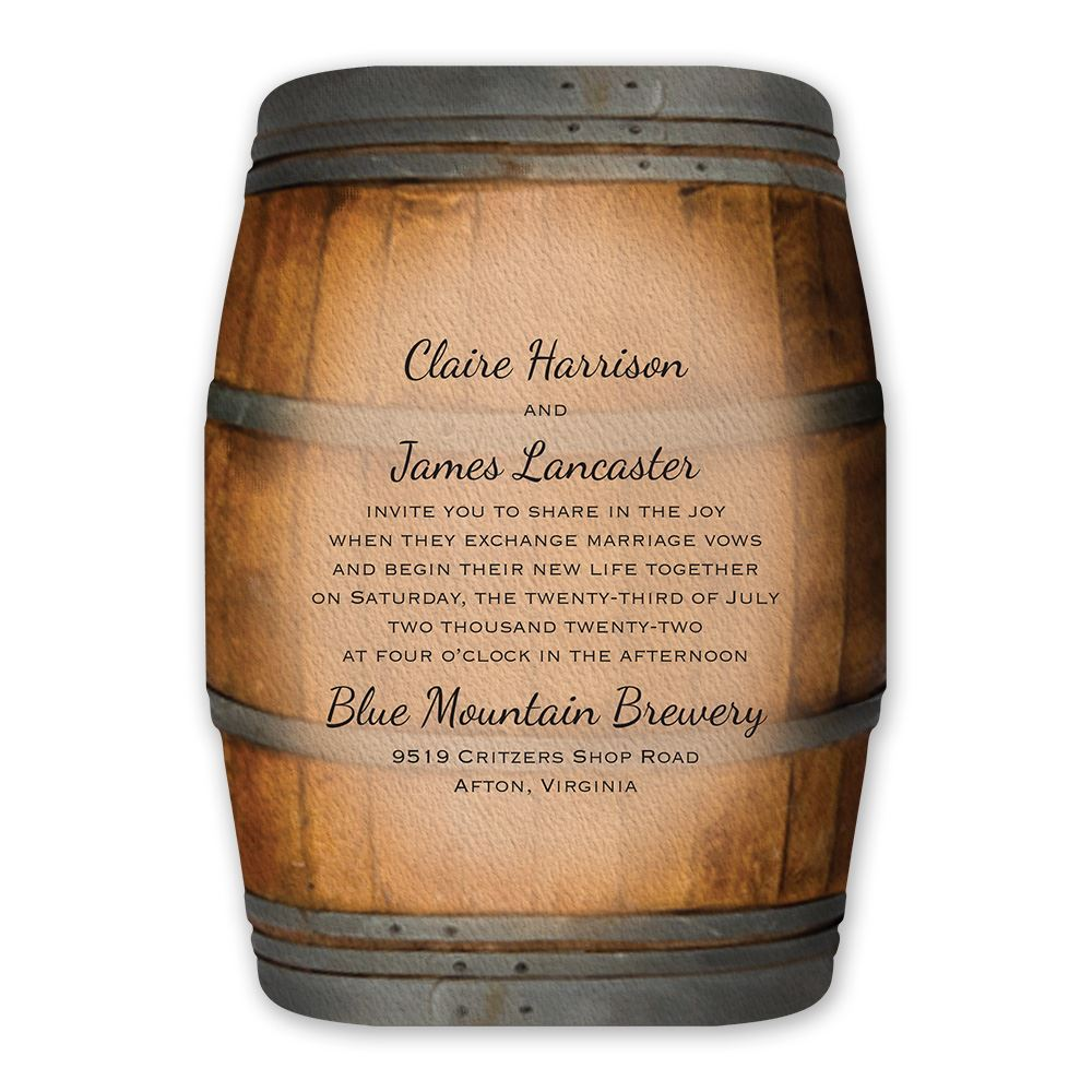 Greatest Wine Barrel Invitation | Invitations By Dawn ZR22