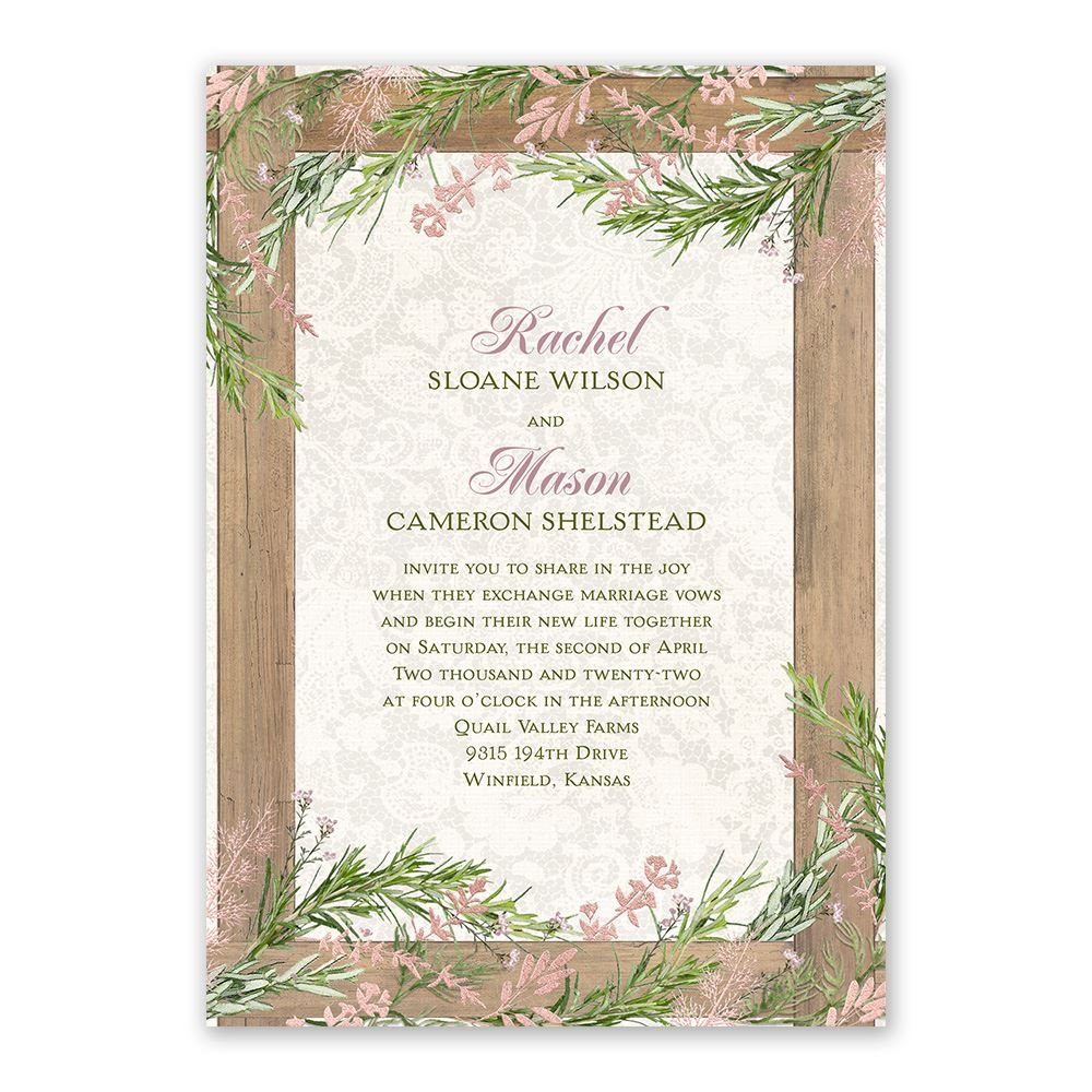 Shabby Chic Wedding Invitations | Invitations By Dawn