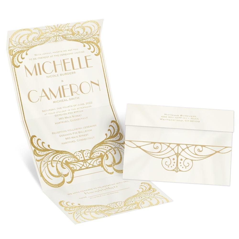 Royal Enchantment Foil Seal and Send Invitation | Invitations By Dawn