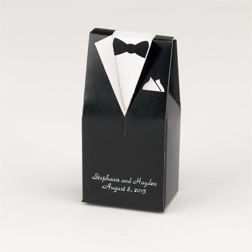 Black Tux Favor Boxes | Invitations By Dawn