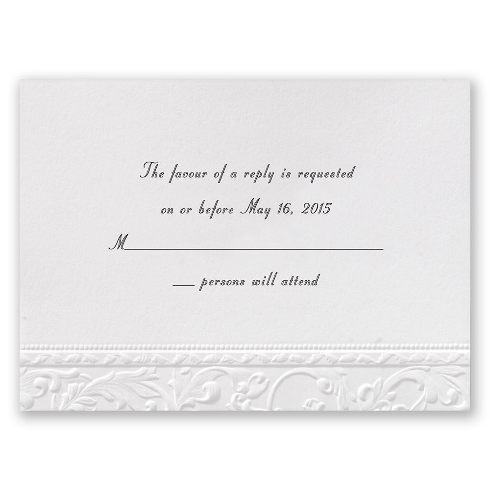 vintage white response card invitations by dawn. Black Bedroom Furniture Sets. Home Design Ideas