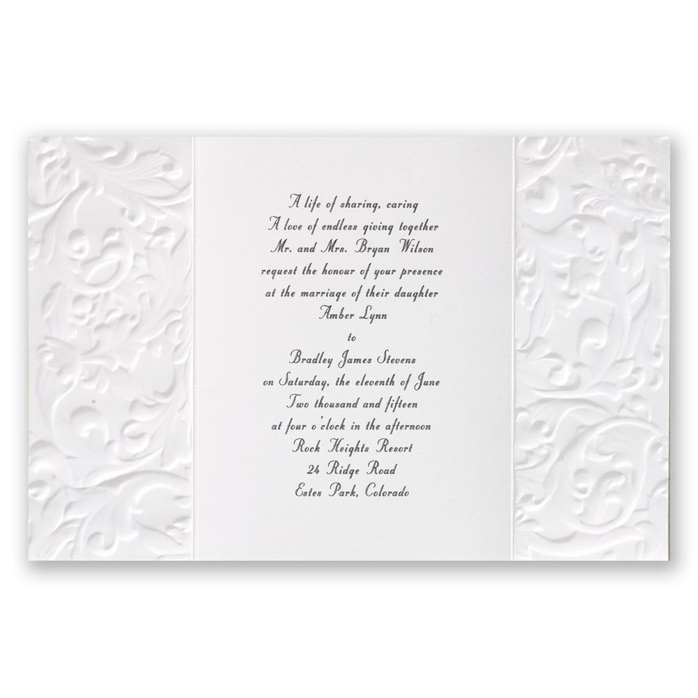 invitations with ribbon