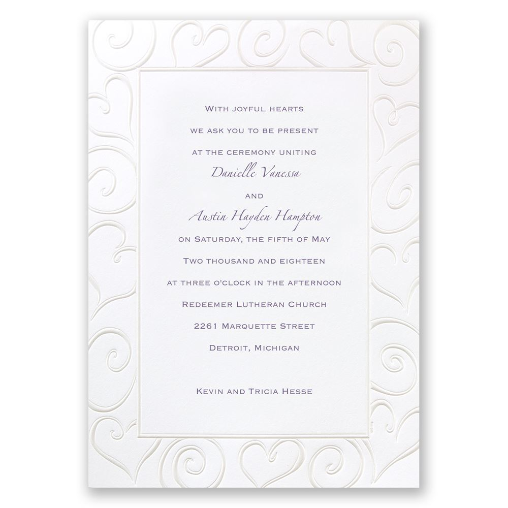Pure Romance Invitation | Invitations By Dawn