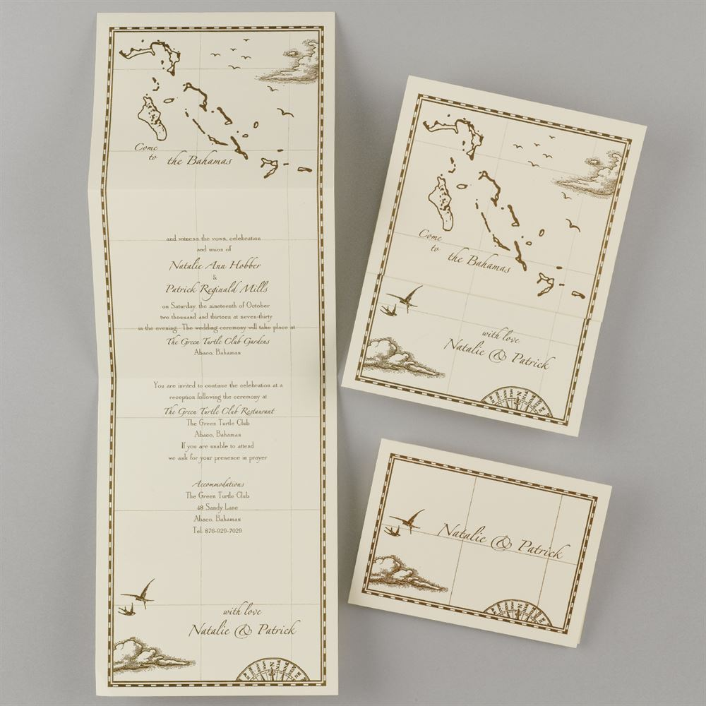 Z Fold Invitation Template