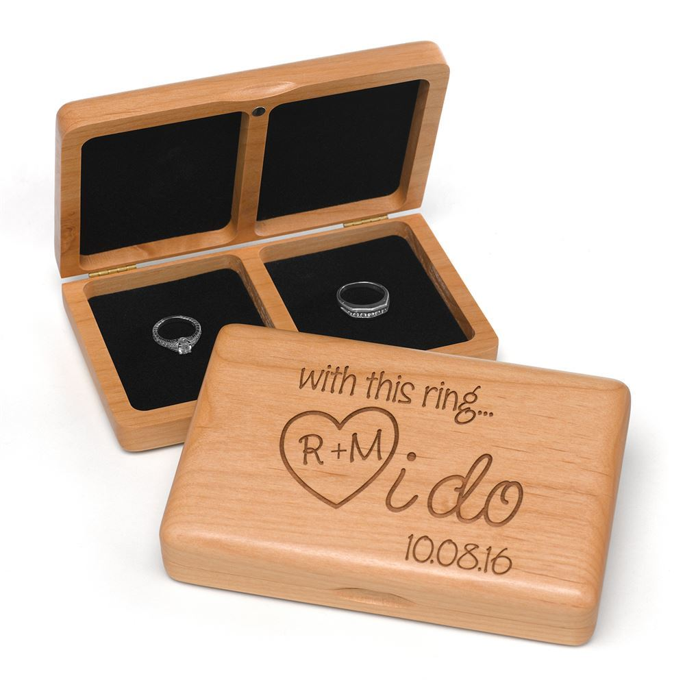 I do wooden ring box invitations by dawn for Wooden ring box