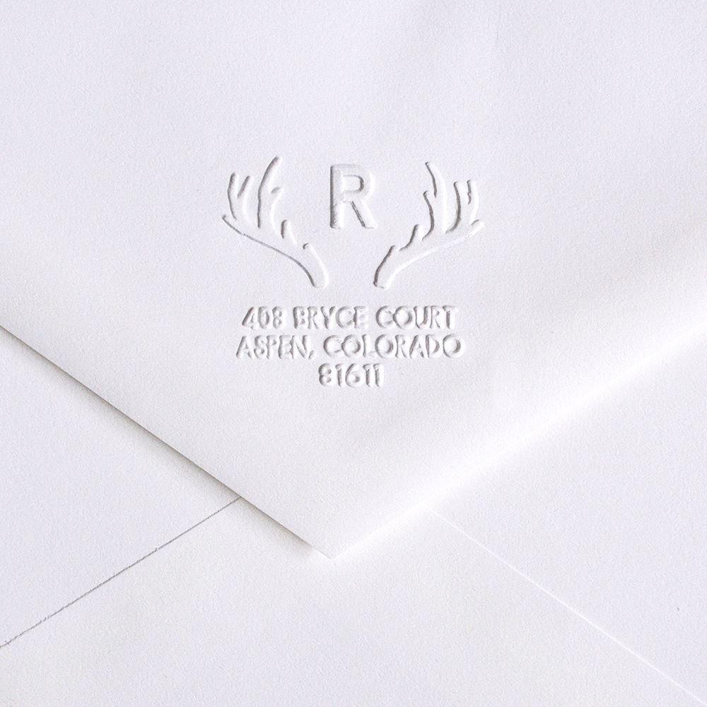 2bae18c2cc33e Antlers Custom Embosser | Invitations By Dawn
