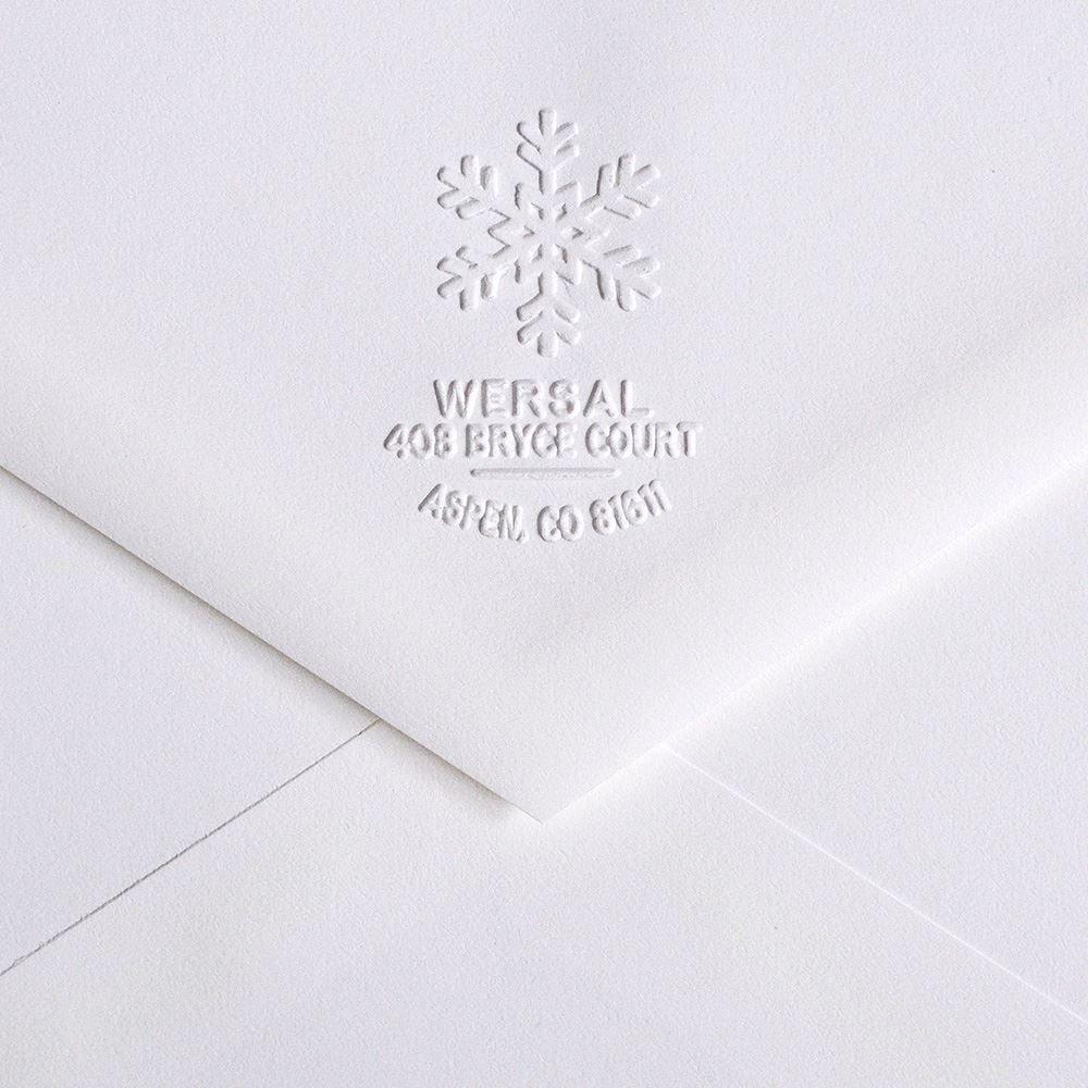 1125dde53c5c8 Snowflake Custom Embosser | Invitations By Dawn