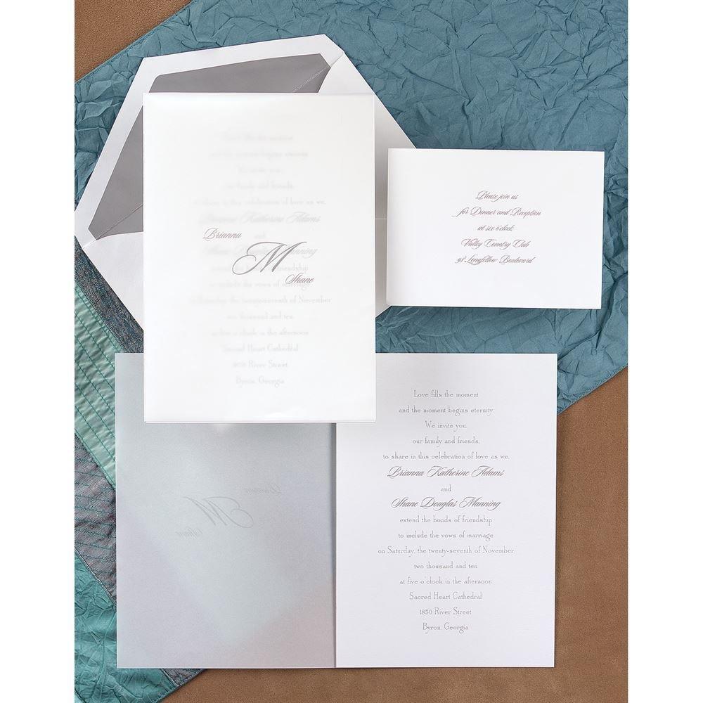 Sheer Simplicity Invitation | Invitations By Dawn
