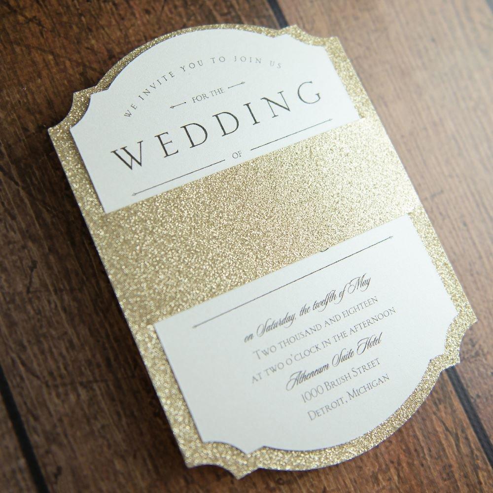 sparkling beauty real glitter invitation