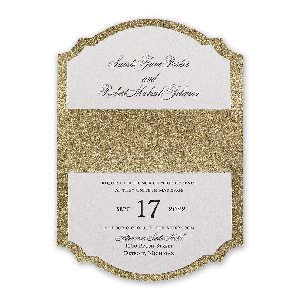 Sparkling Beauty Real Glitter Invitation | Invitations by Dawn