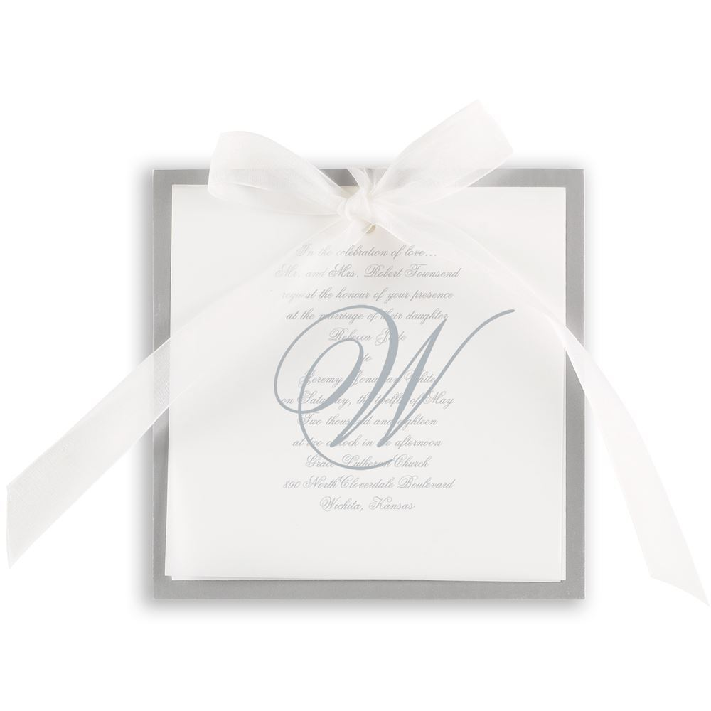 Monogram Wedding Invitations | Invitations By Dawn
