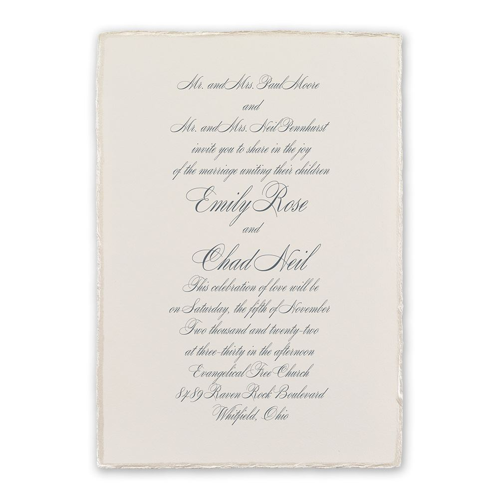 Traditional Wedding Invitations | Invitations by Dawn