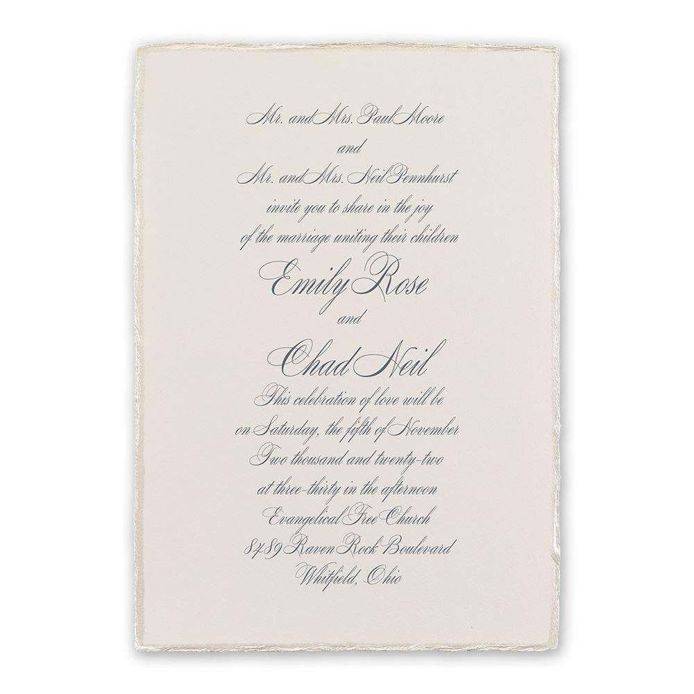 Pearl Trim Invitation | Invitations By Dawn