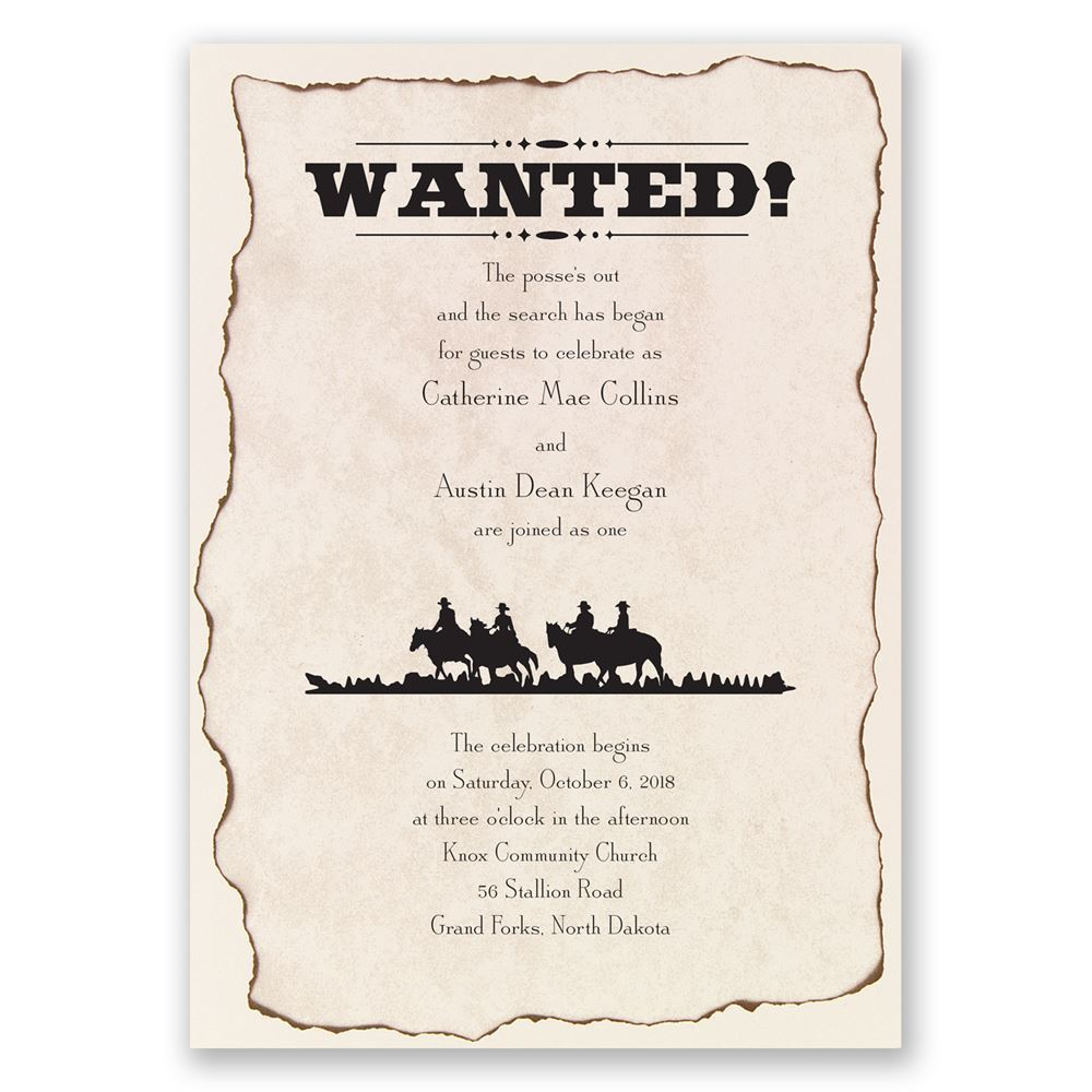 Wanted! Invitation | Invitations By Dawn