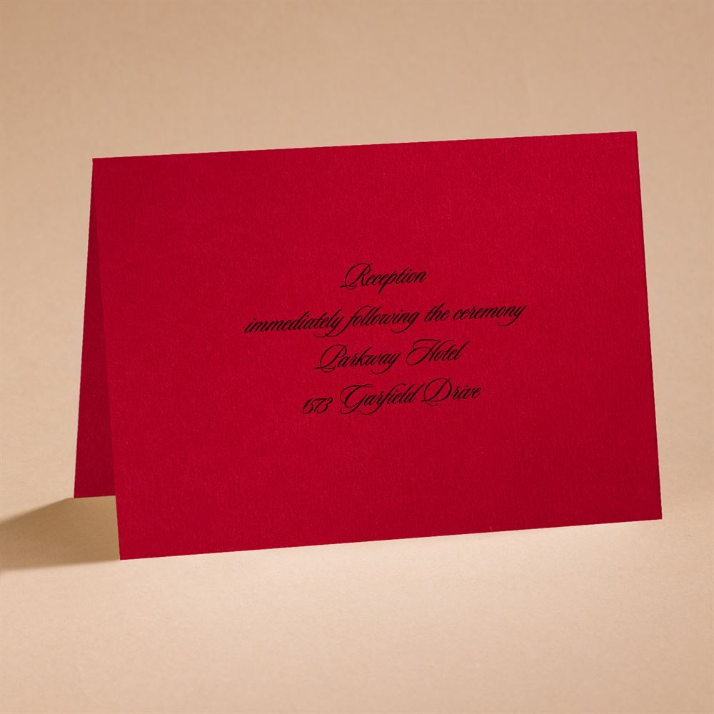 Dramatic Rose Black and Red reception card | Invitations By Dawn