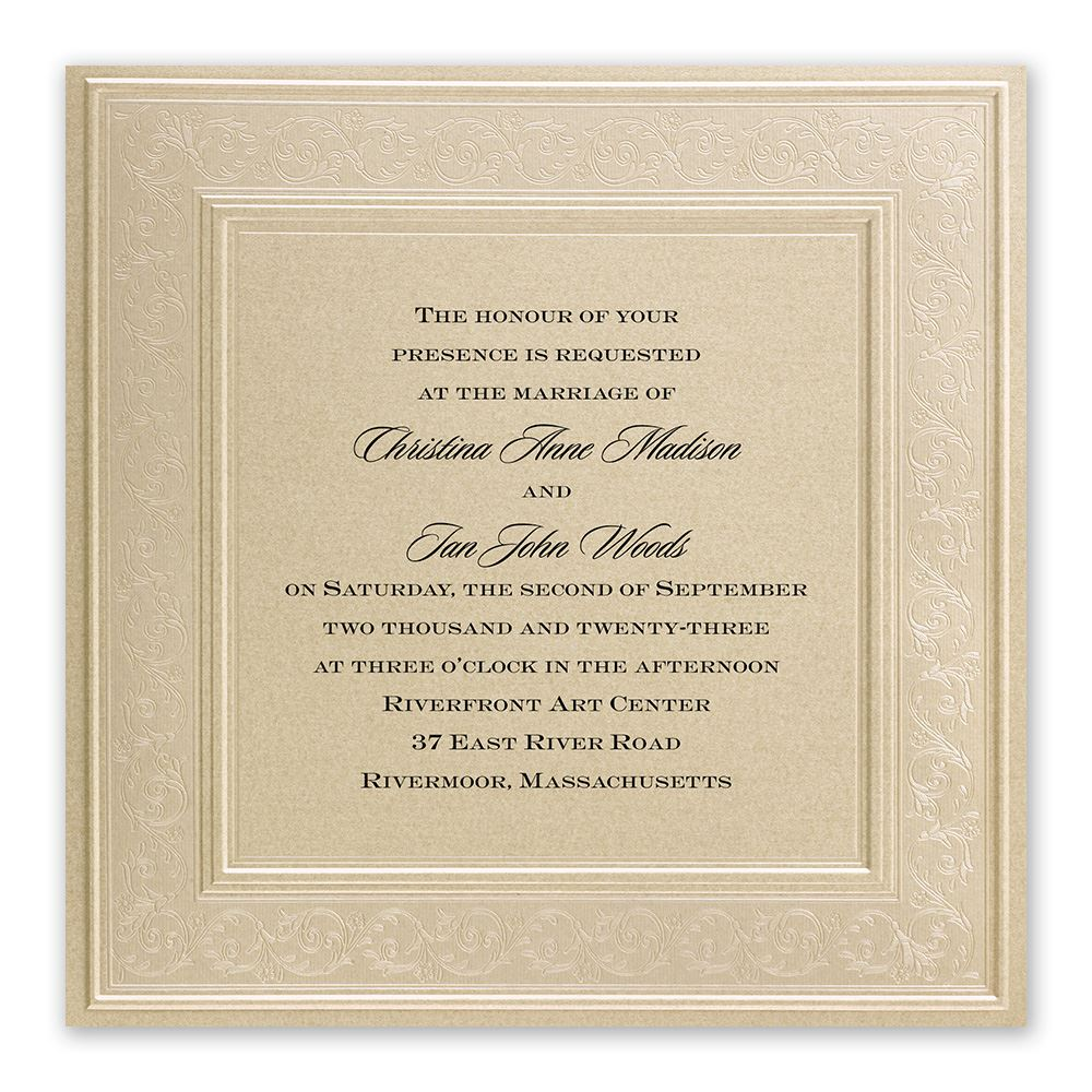 elegant wedding invitations framed in luxury invitation - Fancy Wedding Invitations