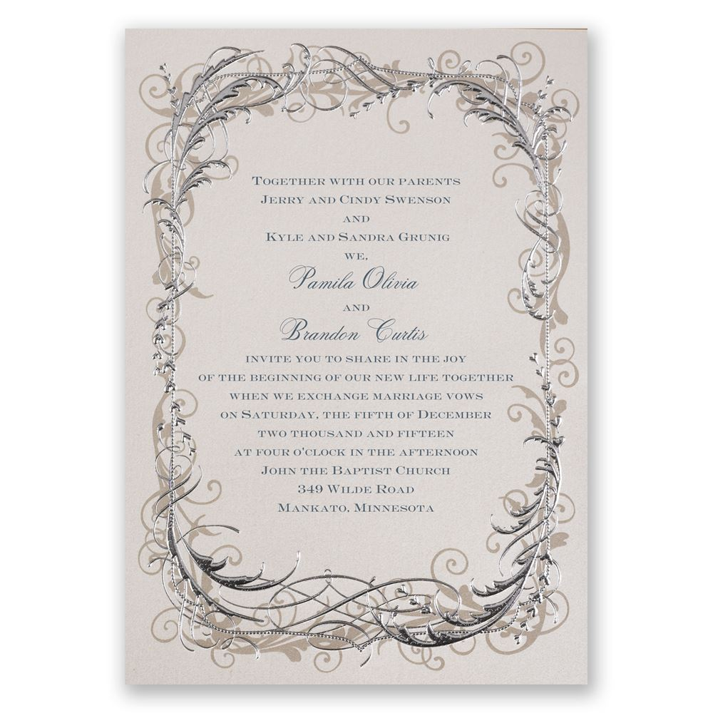 vintage wedding invitations vintage shine invitation - Wedding Invitations Vintage
