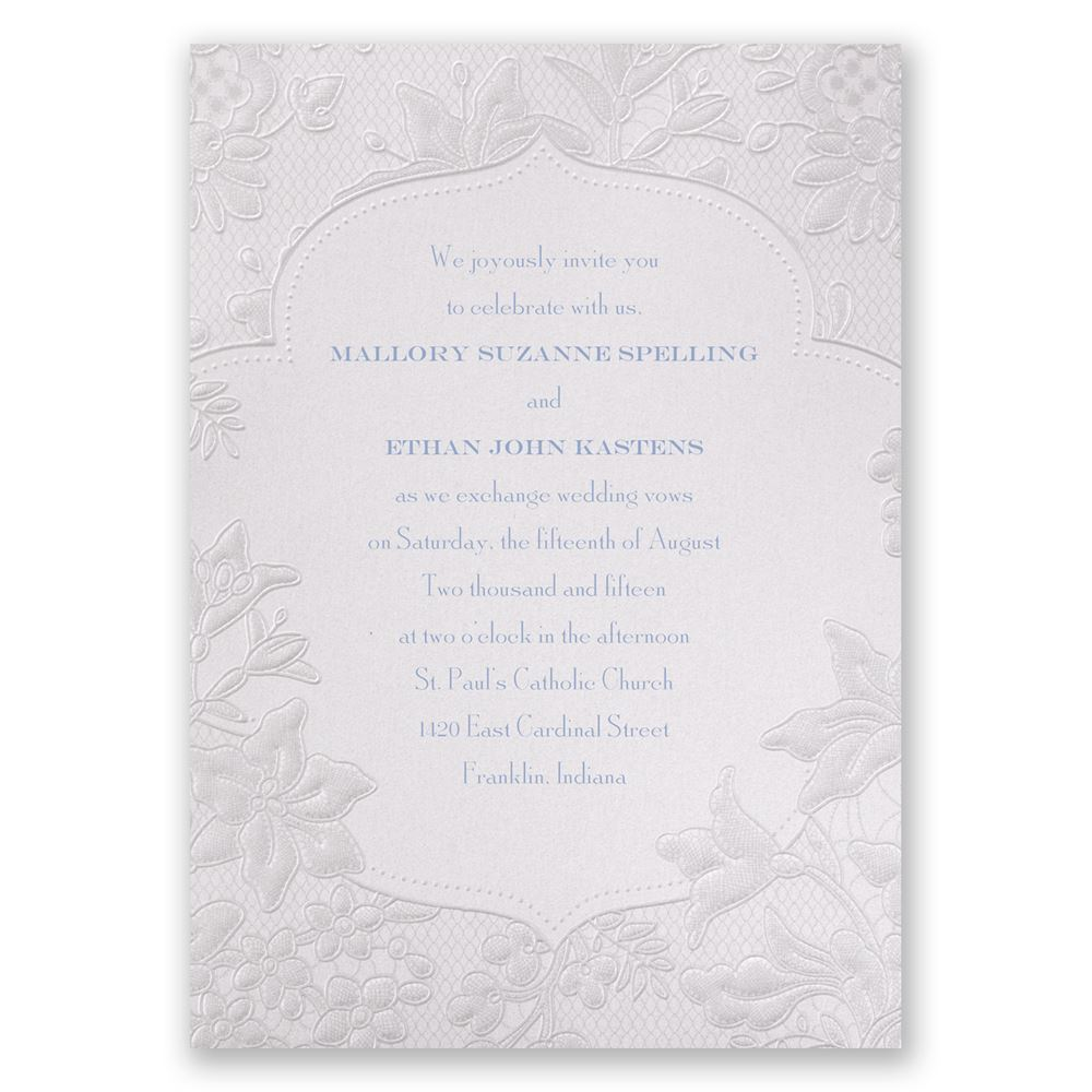 Wedding Lace Invitations: Shimmering Lace Invitation