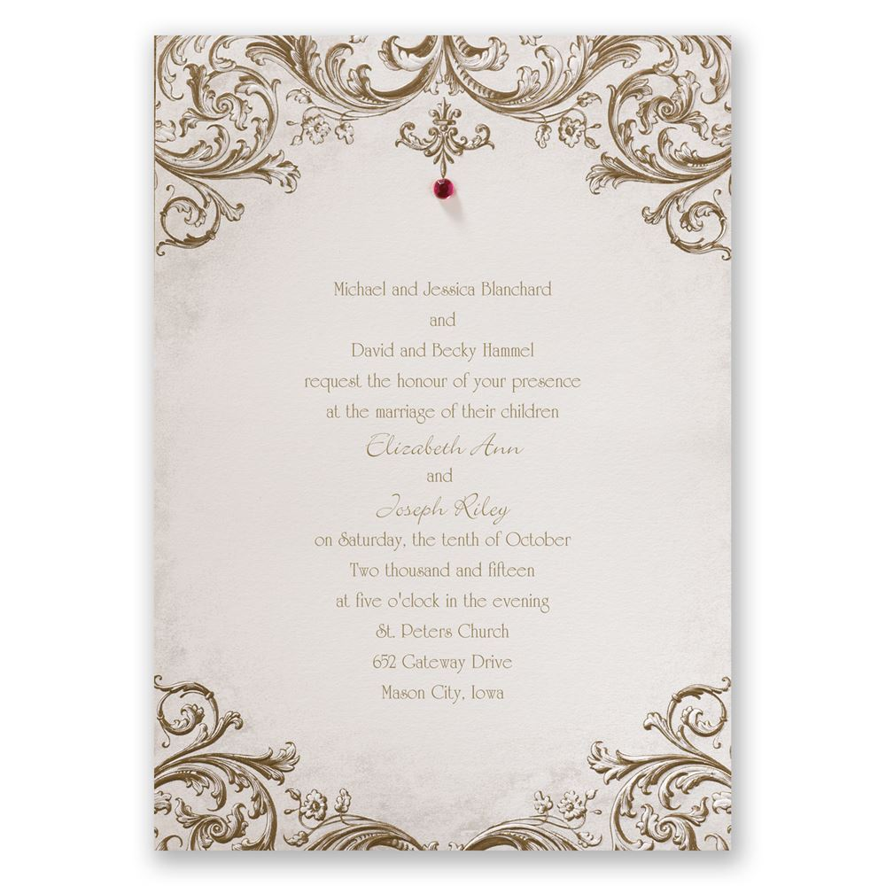 sepia filigree invitation
