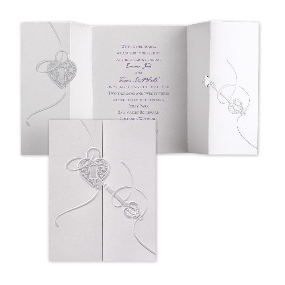 Unlocking Love Invitation | Invitations By Dawn