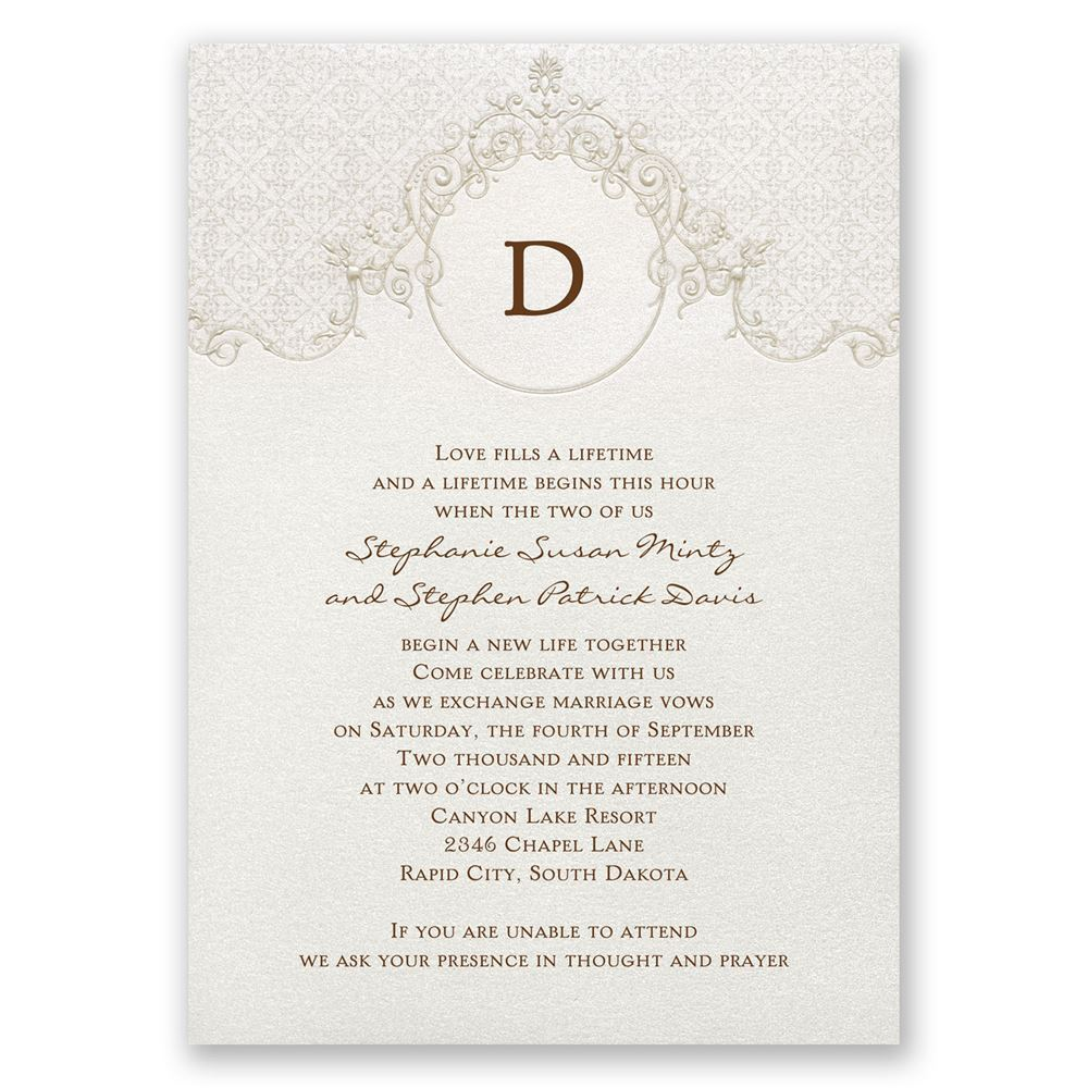 sophisticated monogram invitation invitations by dawn