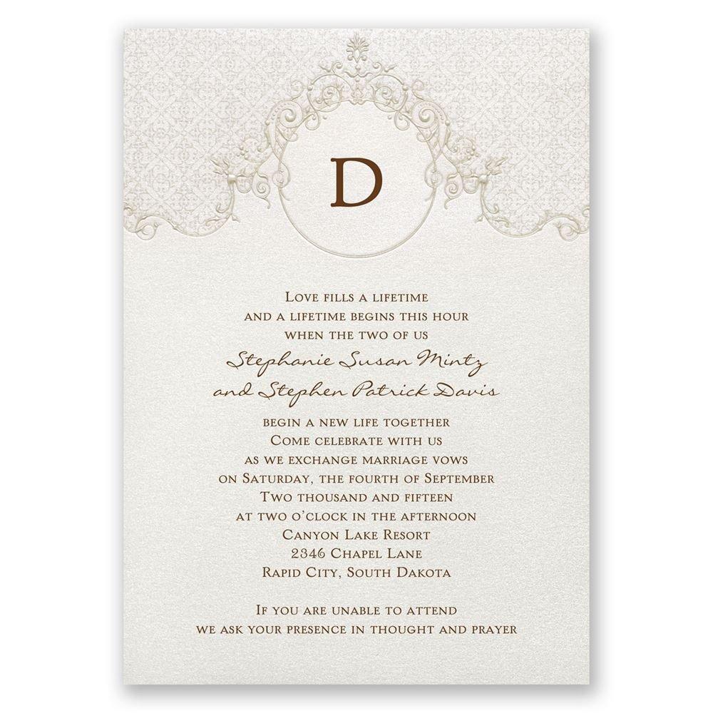 Sophisticated Monogram Invitation